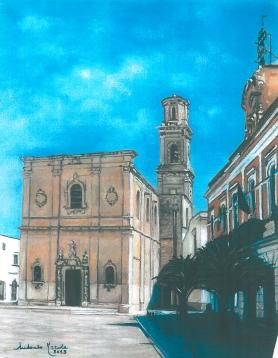Calimera, chiesa matrice, olio su tela, 2013