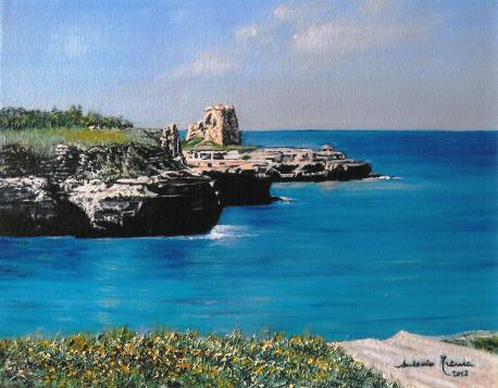 Roca Vecchia, Melendugno, olio su tela, 2012
