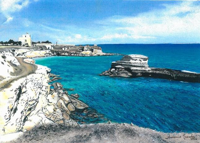 Sant'Andrea porticciolo, marina, olio su tela, 2014