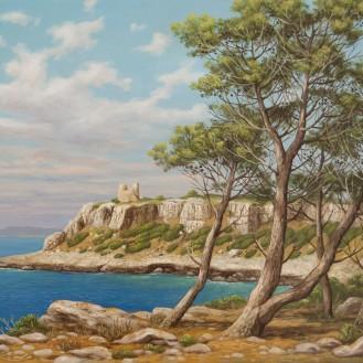 B. Magliani, 2017, Porto Selvaggio, 40x30, olio su tela