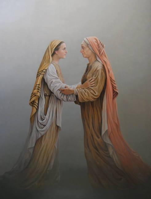 Magliani, Visitazione, olio su tela 250x190, Leverano