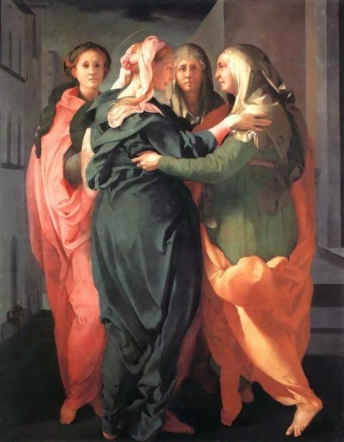 Pontormo, Visitazione, olio su tavola 202x156, Carmignano