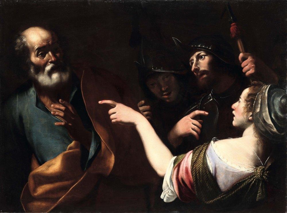 Negazione di san Pietro, 98 x 130, bottega
