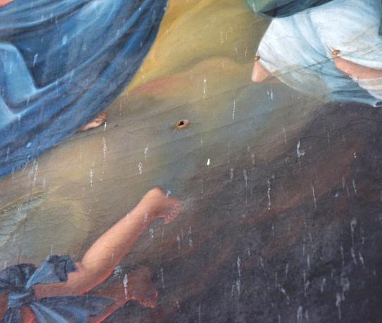 Mater Divinae Gratiae - dettaglio buchi e scolature